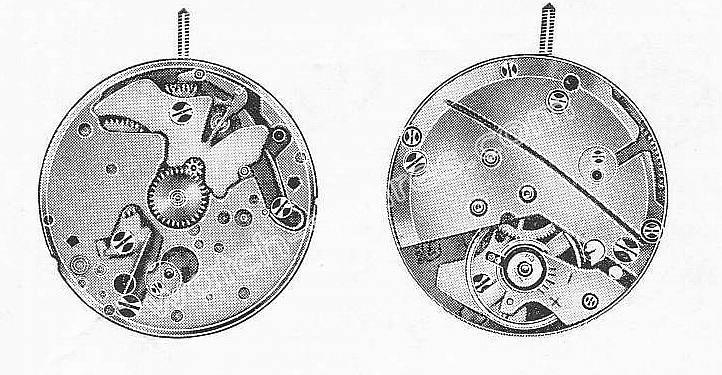 A Schild AS 1651 watch movement