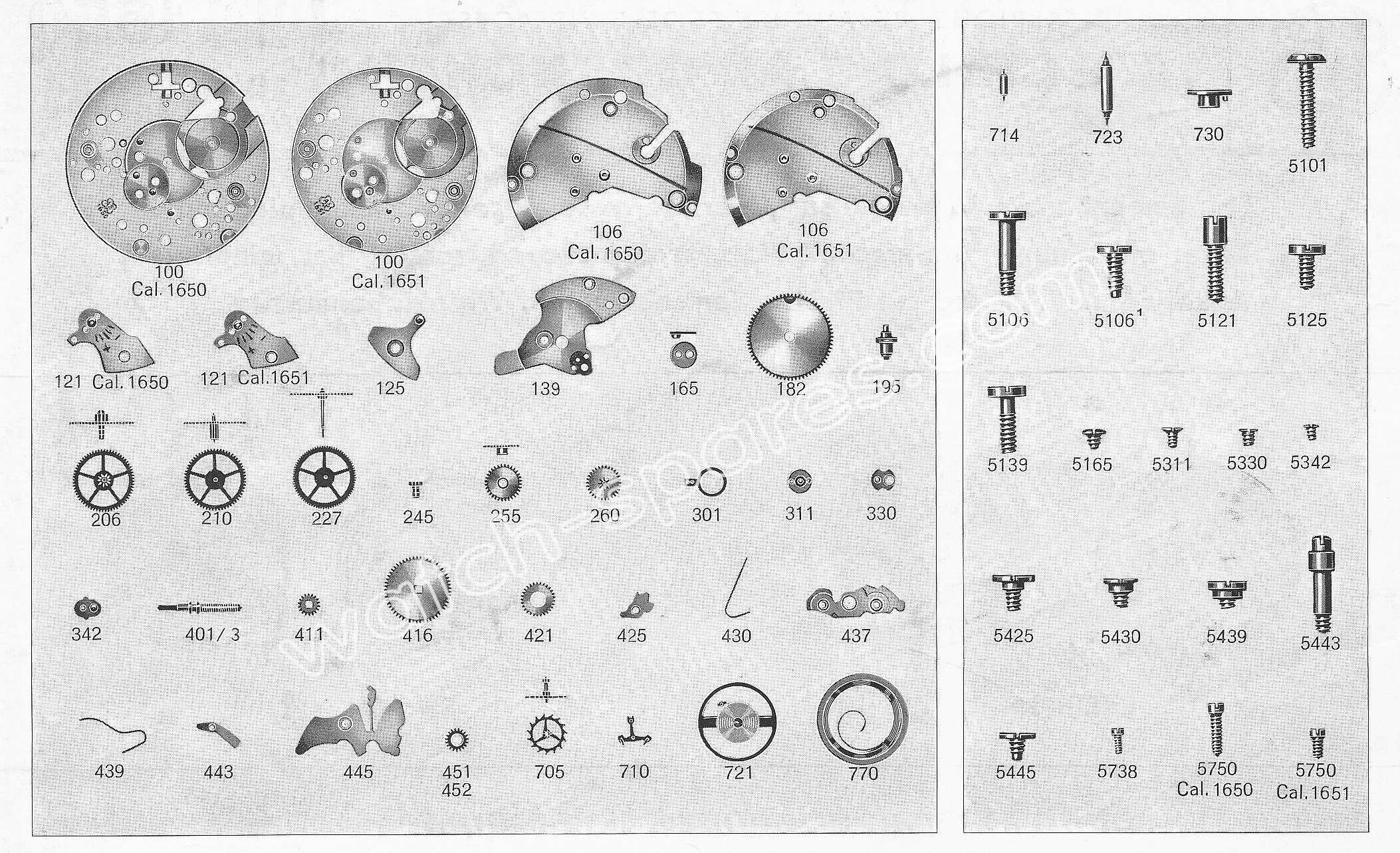 A Schild AS 1651 watch parts
