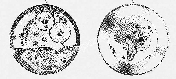A Schild AS 1951 watch movement