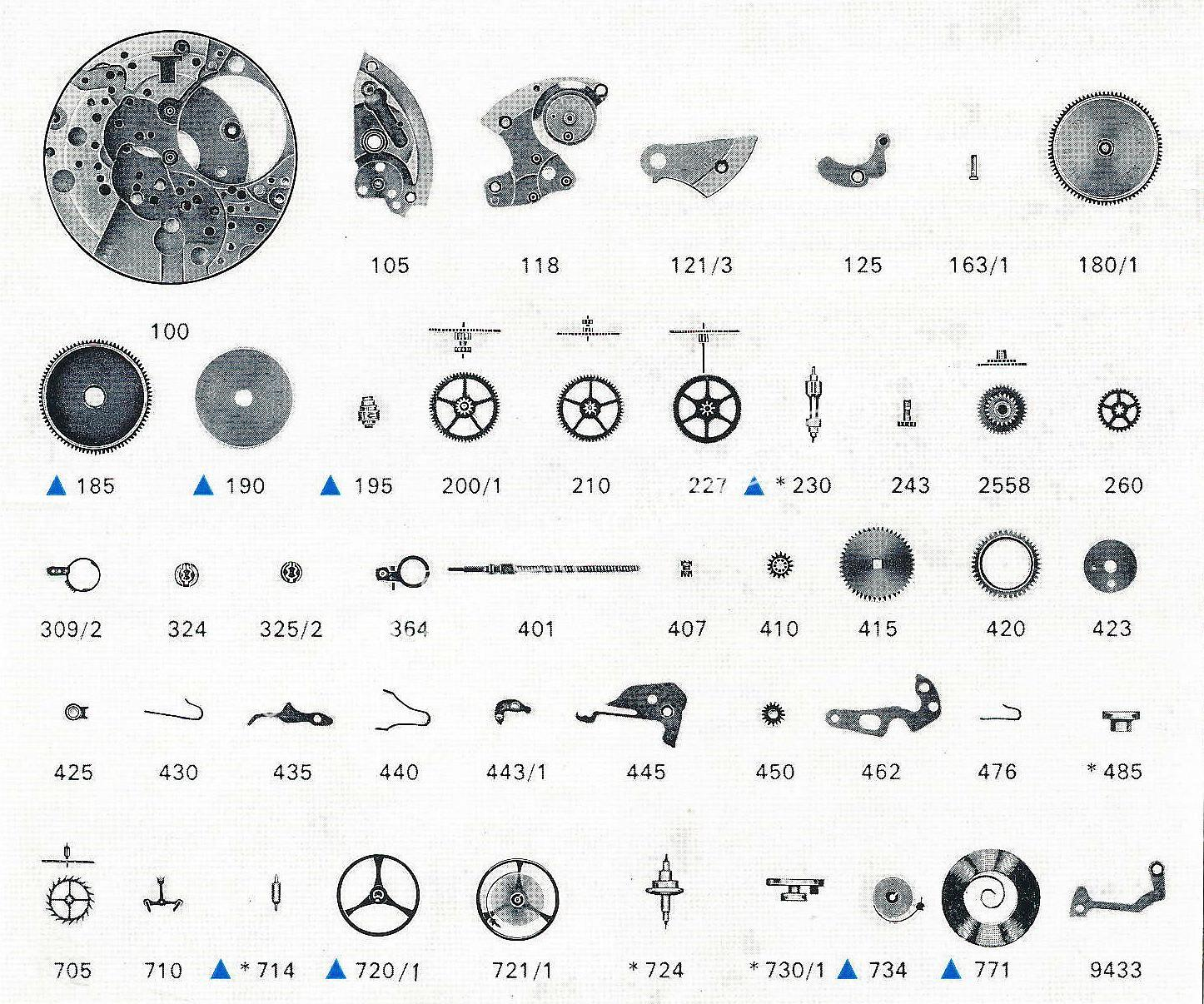 Favre leuba FL 1149 watch parts