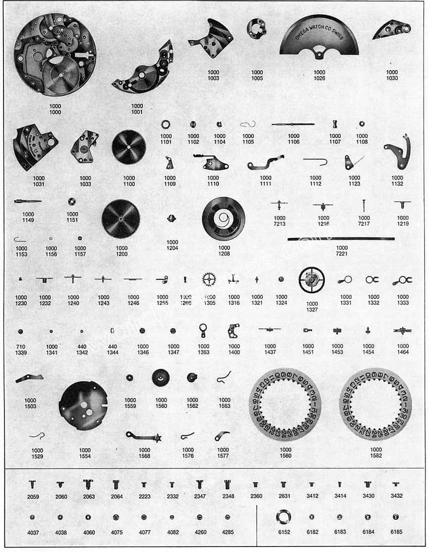 Omega 1000 watch parts