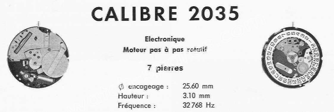 Tissot 2035 watch movements