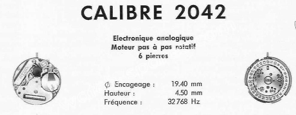 Tissot 2042 watch movements