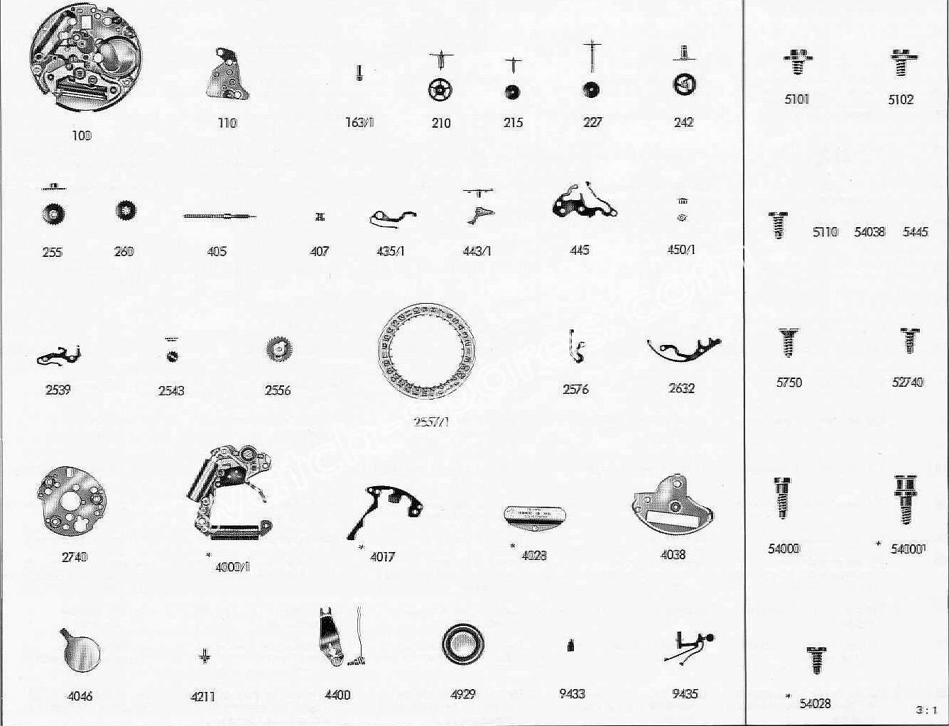 Tissot 2042 watch spare parts