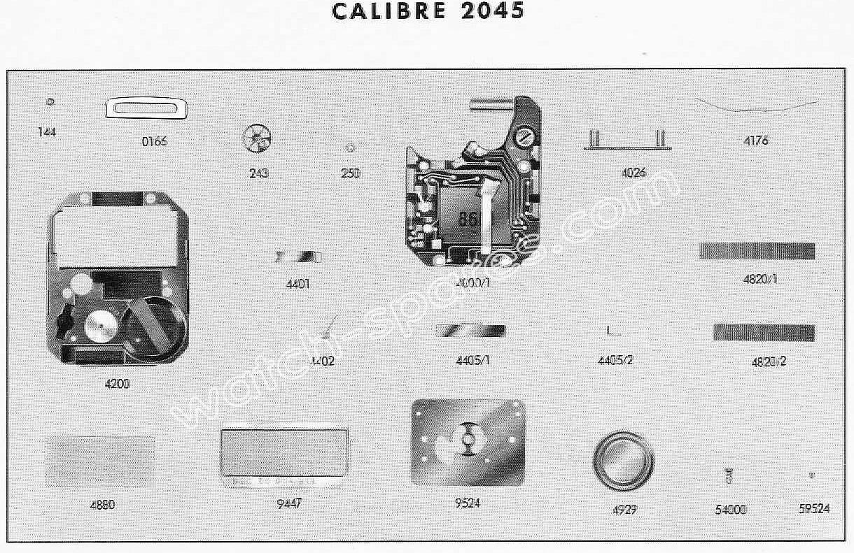 Tissot 2045 watch spare parts