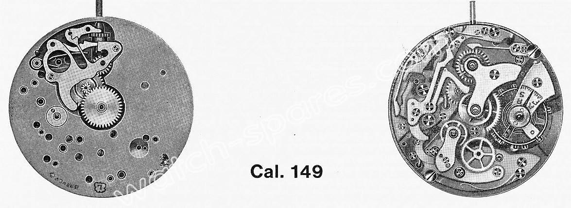 Landeron 149 watch movements