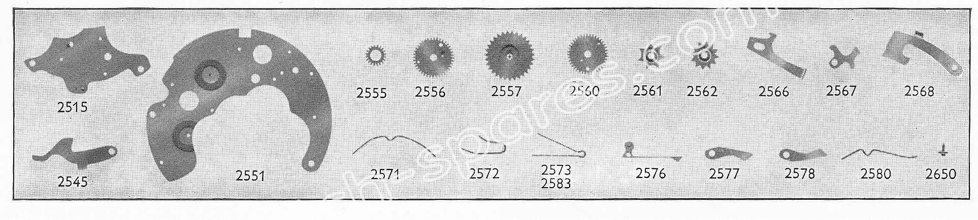 Landeron 186 watch date spare parts