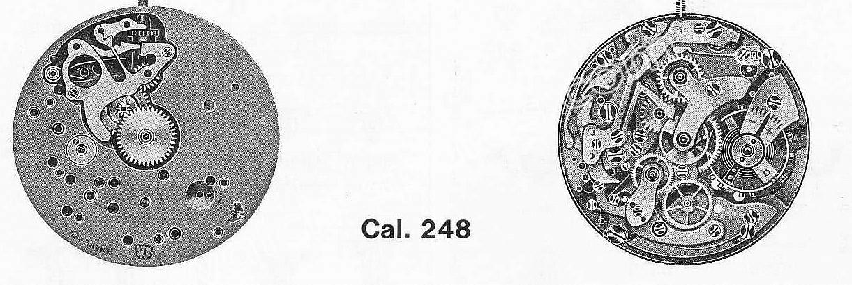 Landeron 248 watch movements