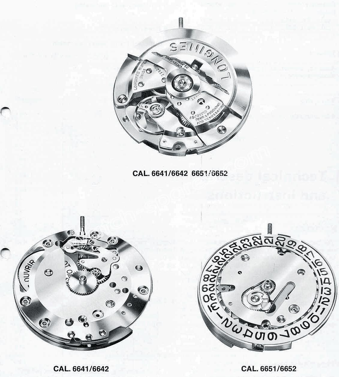 Longines 6642 watch movements
