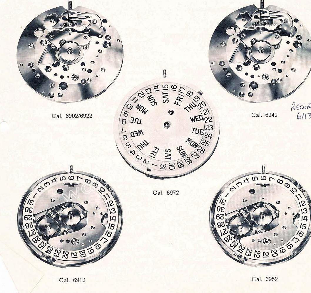 Longines 6912 watch movements